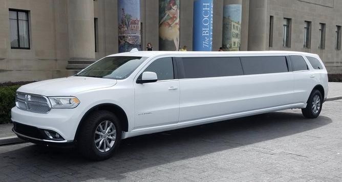 White strech limousine